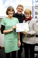 Alice, Peter and Mary at SFTF awards event, Glasgow 2015